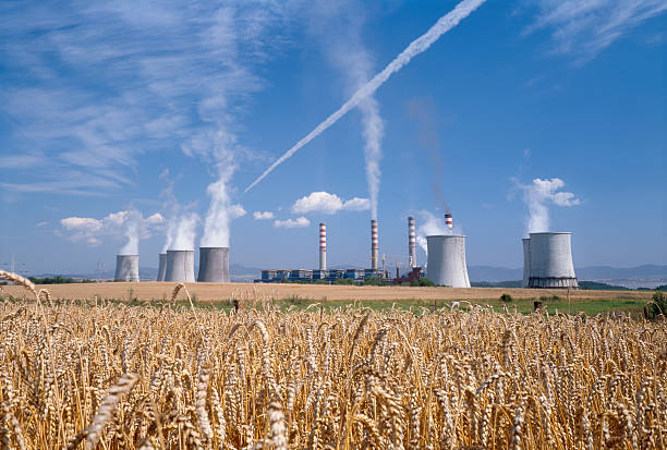 Power station to the lignite coal. stock photo