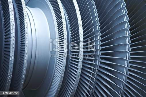 Close-up of Turbine Fan Blades