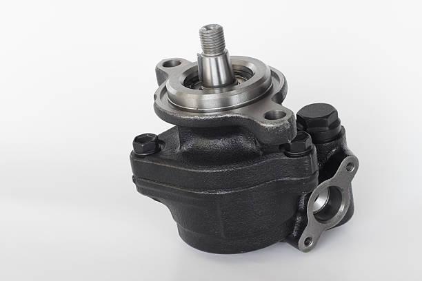 power steering pump  engine parts stock photo