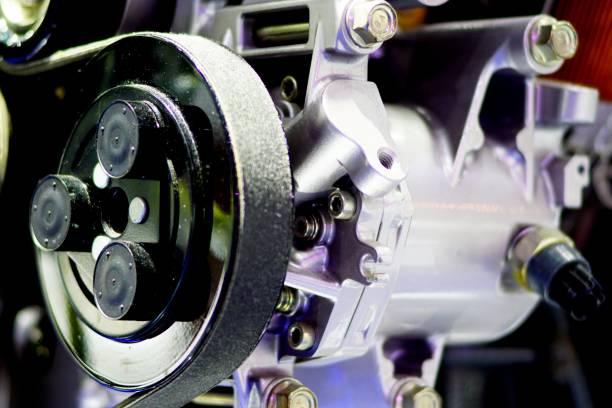 Power steering pump stock photo