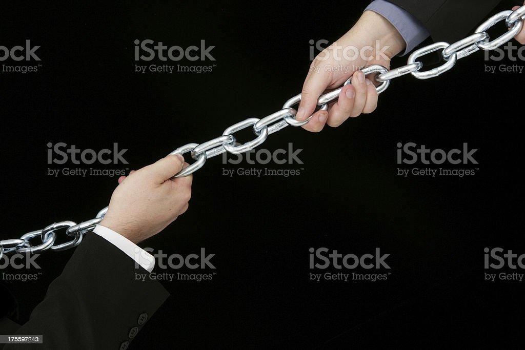 Power struggle royalty-free stock photo