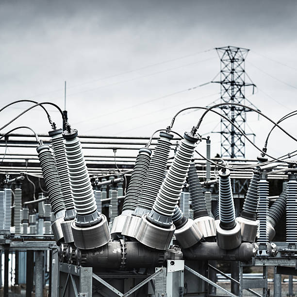 power substation - transformers stock photos and pictures