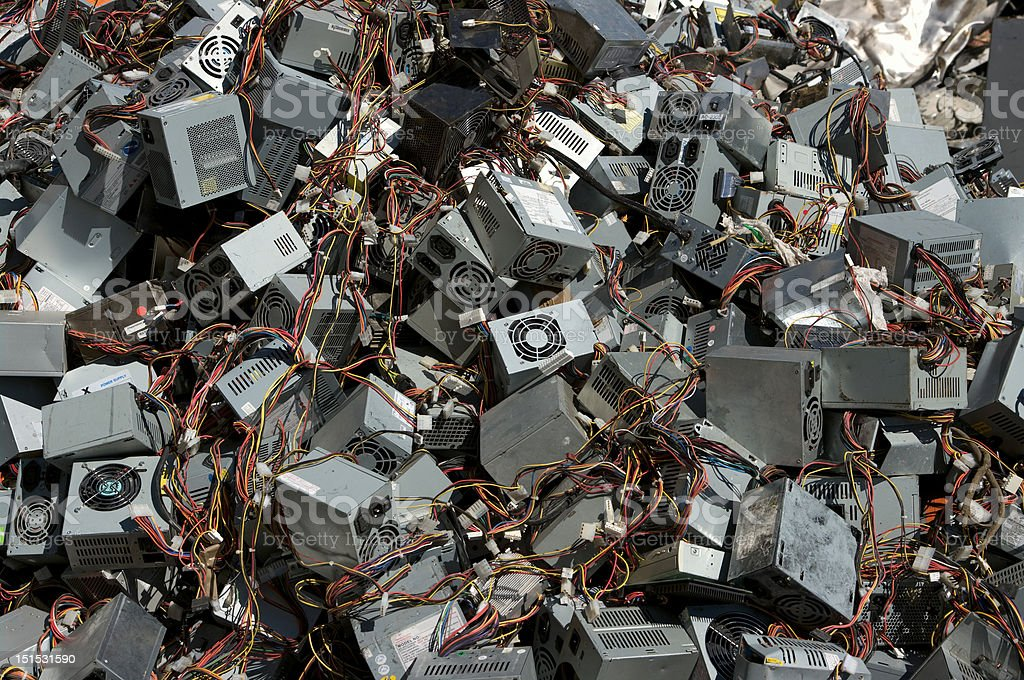 Power supply boxes royalty-free stock photo