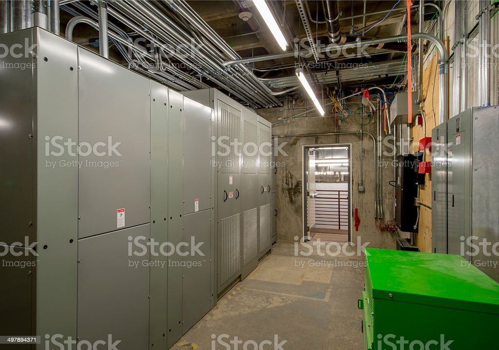 Power Supply for Office Building. stock photo