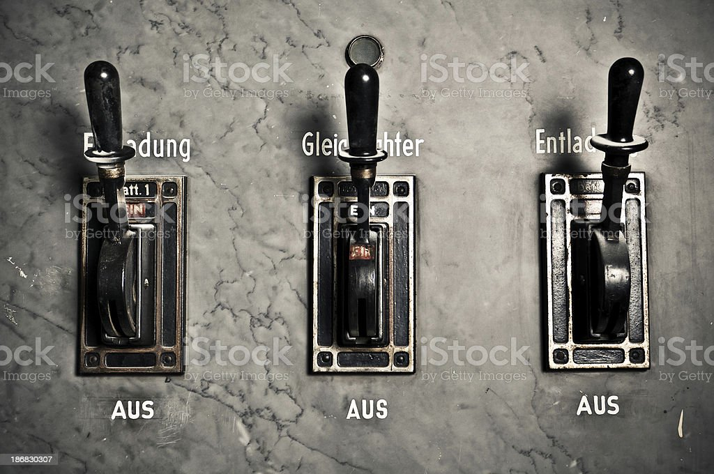 Power Switch Levers stock photo