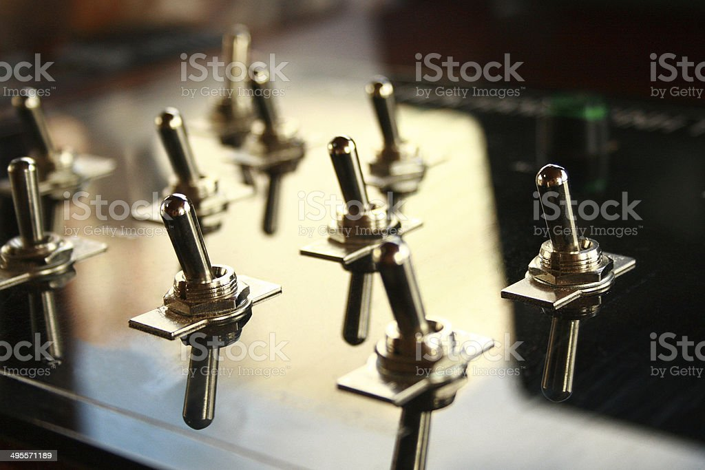 Power switches stock photo