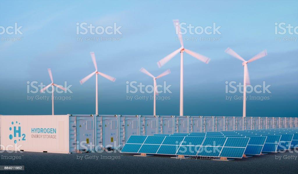 Strom, Gas-Konzept im schönen Morgenlicht. – Foto