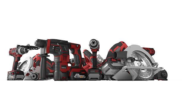 power tools - elektrisch gereedschap stockfoto's en -beelden