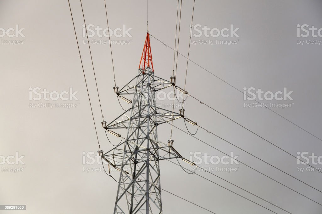 Power tower structure stock photo