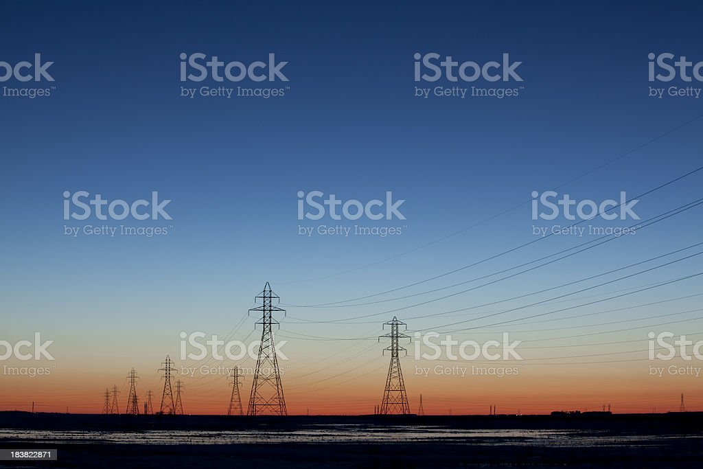 Power Towers royalty-free stock photo