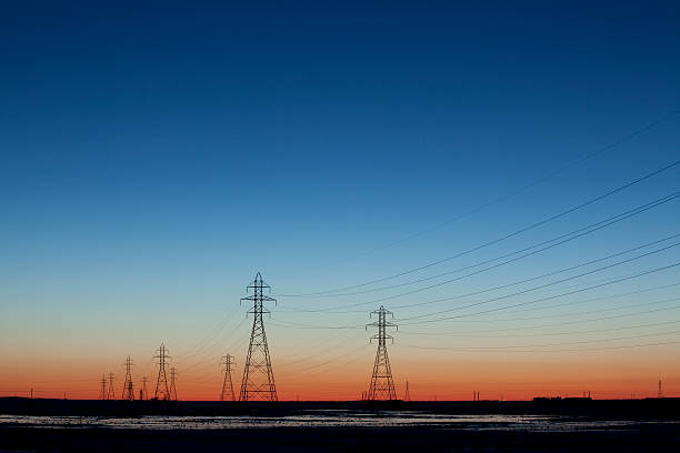 Power Towers stock photo