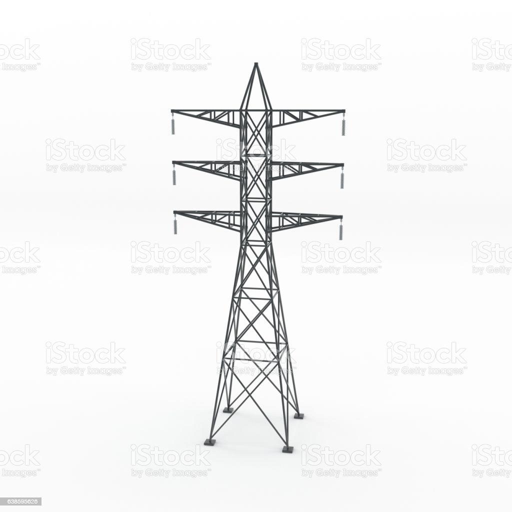 Foto De Power Transmission Tower 3d Rendering Illustration E Mais Fotos De Stock De Alto Descricao Geral Istock