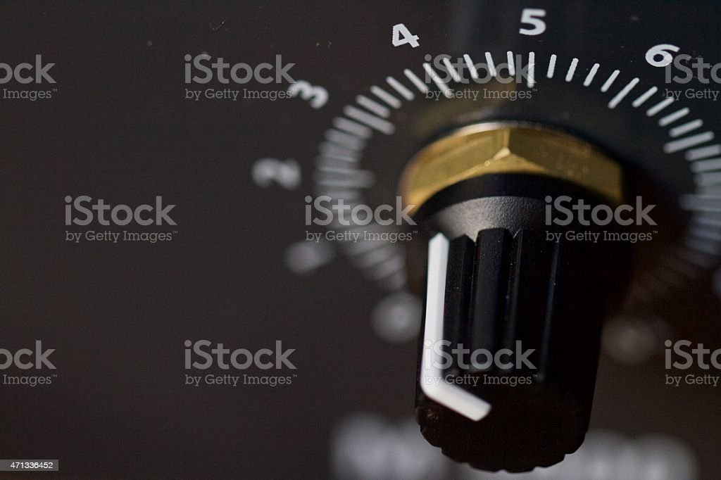 Power unit dial stock photo