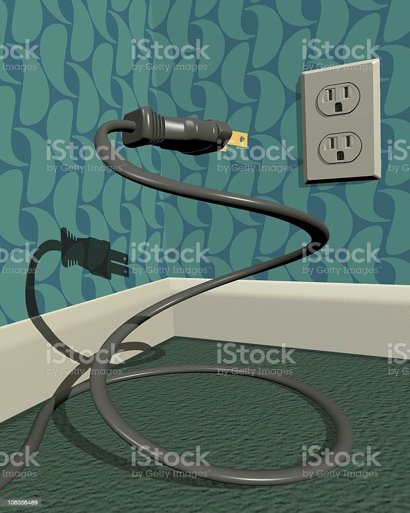 Power Unplugged royalty-free stock photo