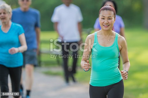 646614234 istock photo Power Walking at the Park 646614190