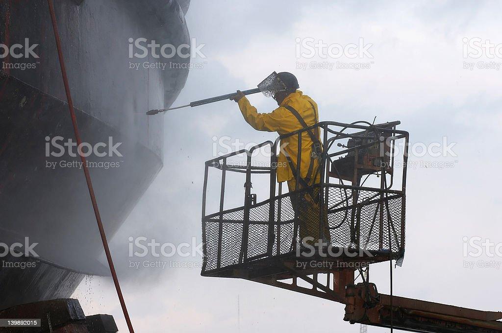 power-Waschung - Lizenzfrei Arbeiten Stock-Foto