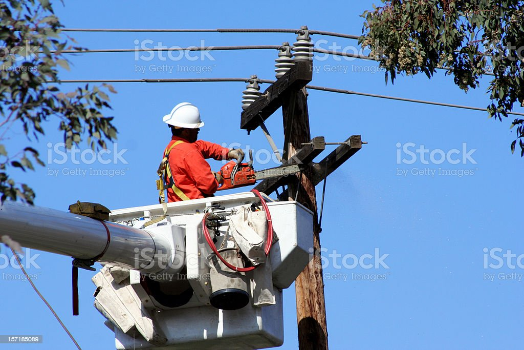 Power Workman, Landscape stock photo