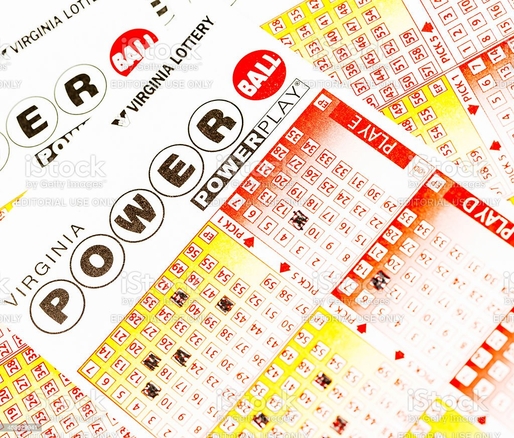 Powerball Lottery Game Forms stock photo