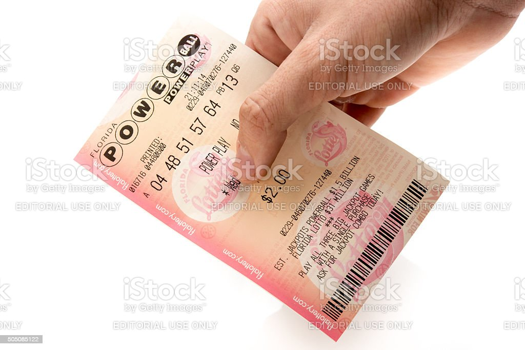 Powerball Lottery Ticket Stock Photo - Download Image Now