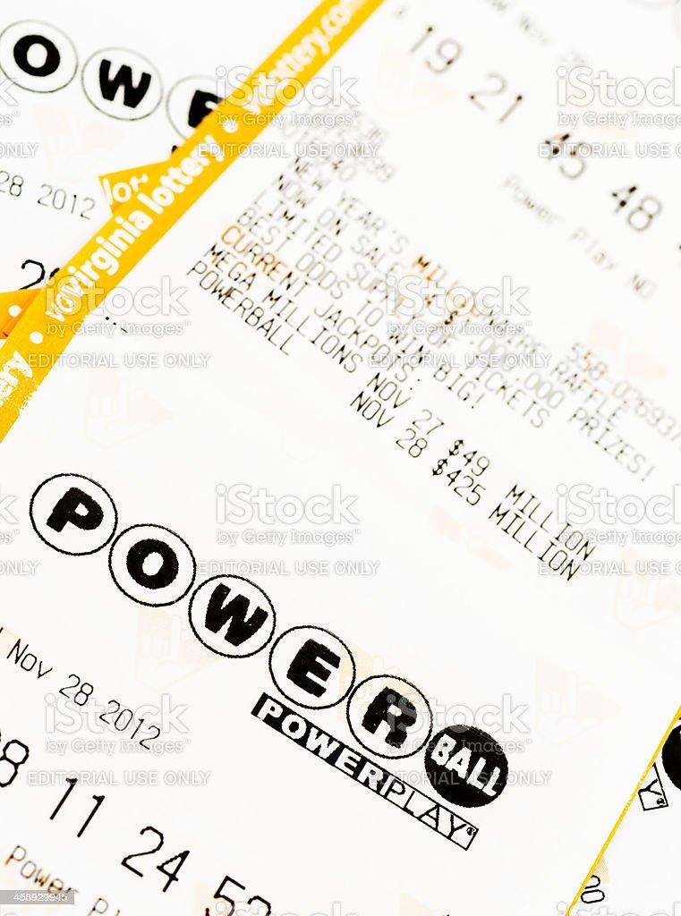 Powerball Lottery Tickets stock photo