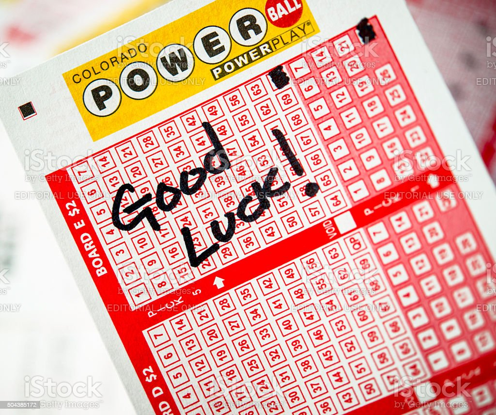 Powerball Tickets For The Lottery Stock Photo - Download
