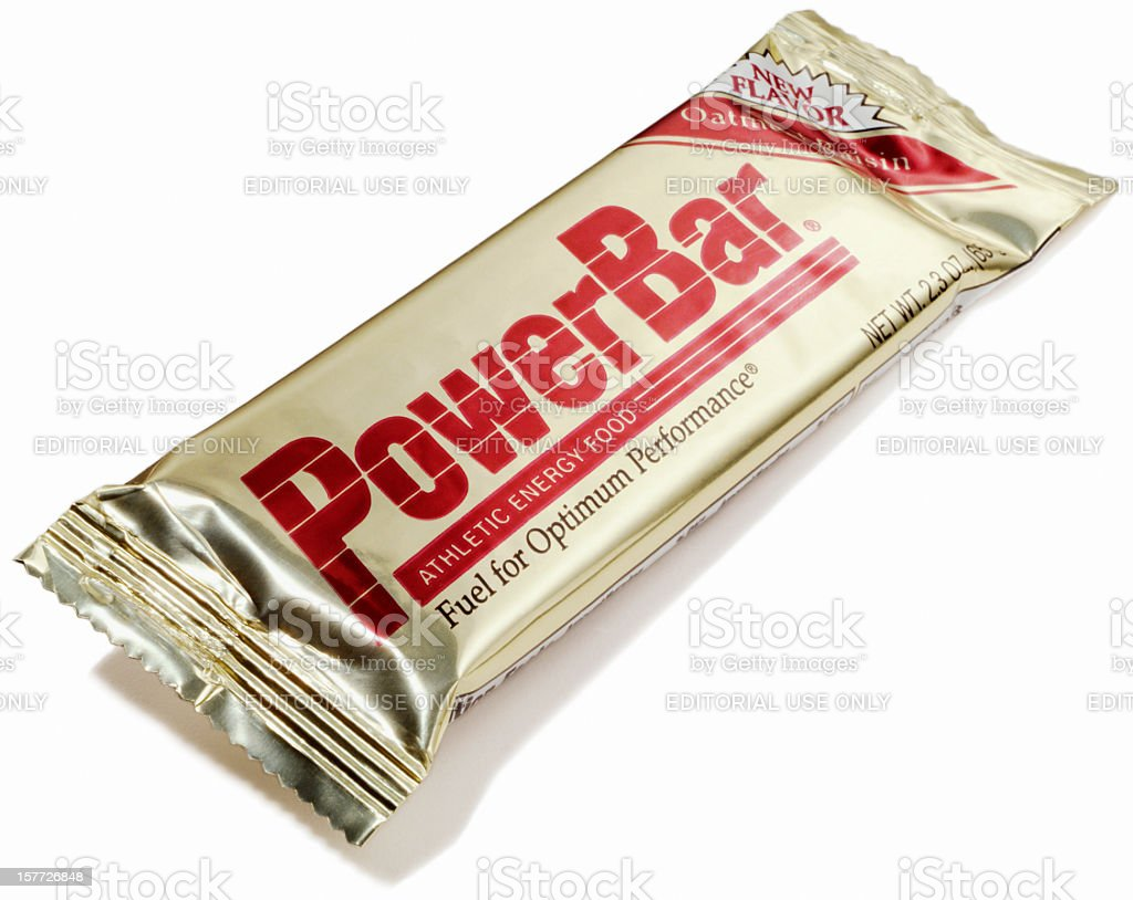 PowerBar energy and protein bar stock photo