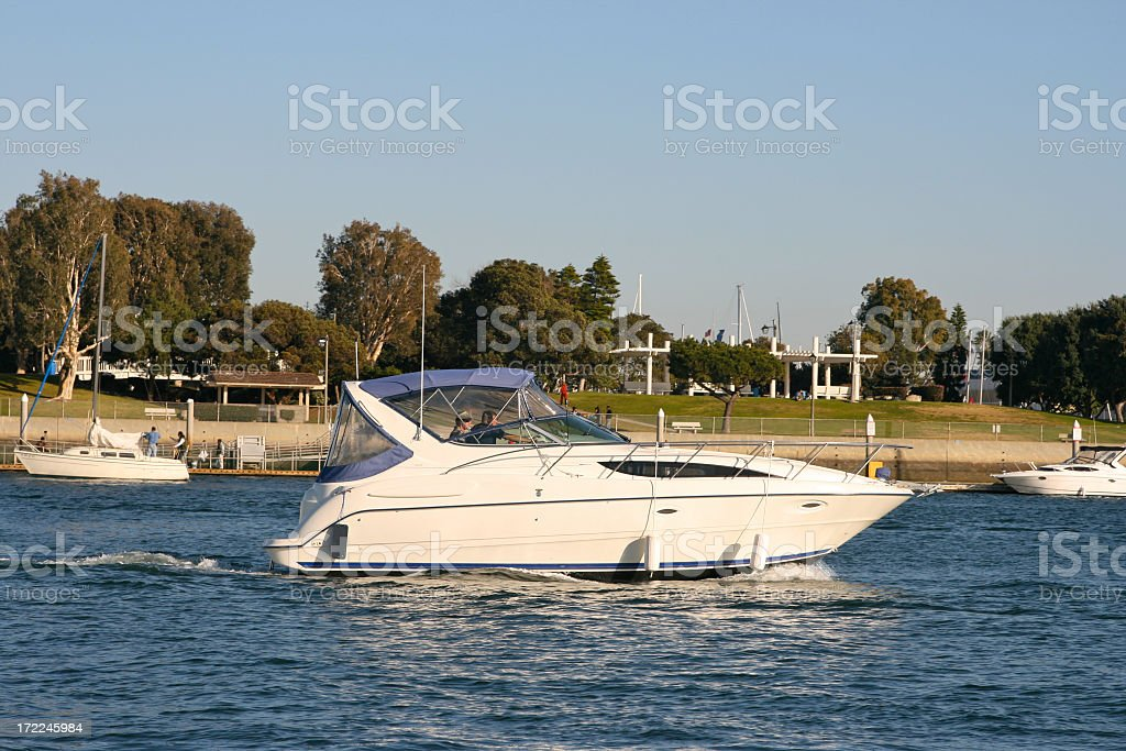Powerboating royalty-free stock photo