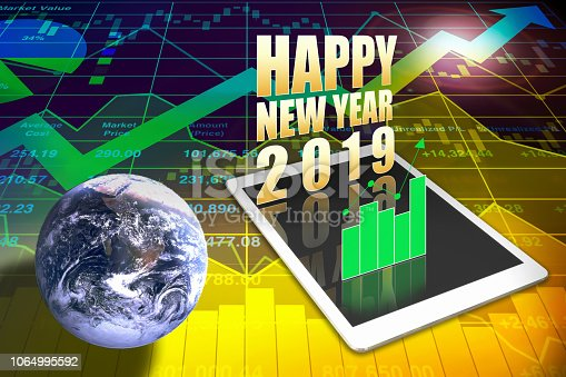 istock Powerful and impact Stock index data analysis of illustration global business presentation 1064995592