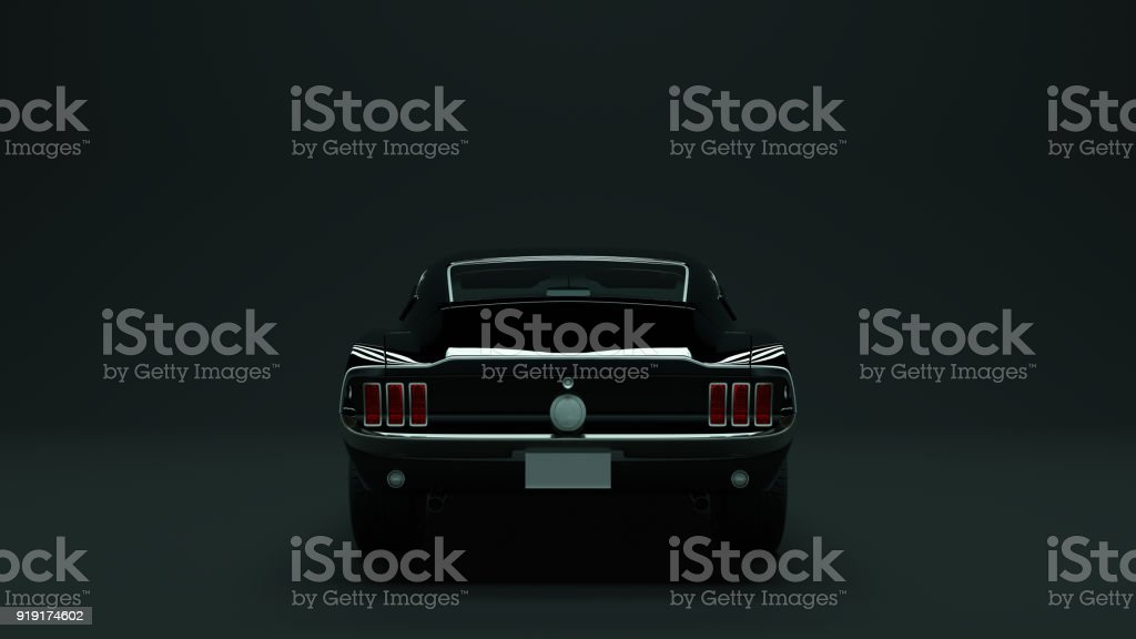 Powerful Black 1967  Muscle Car - foto stock
