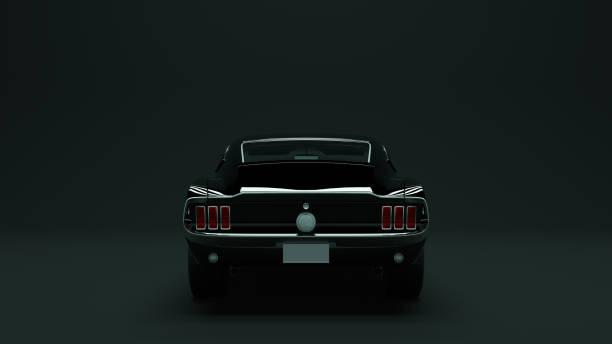 leistungsstarke schwarz 1967 muscle-car - alten muscle cars stock-fotos und bilder