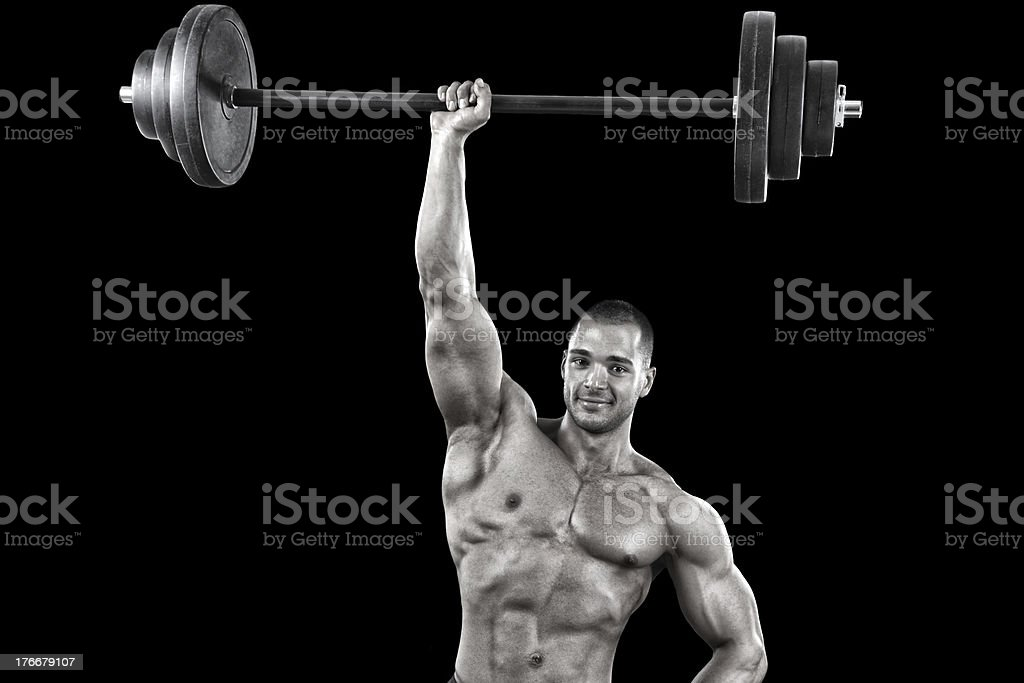 Powerful bodybuilder royalty-free stock photo