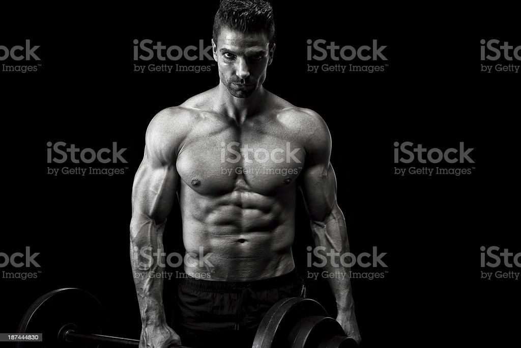Powerful bodybuilder royalty-free stock photo