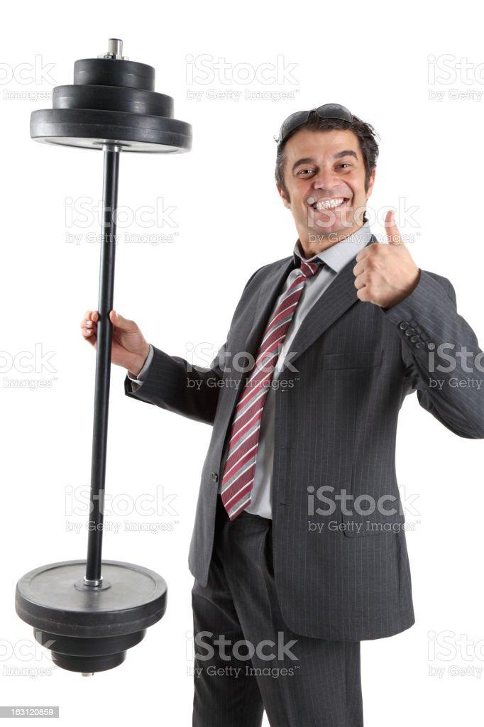 Powerful businessman royalty-free stock photo