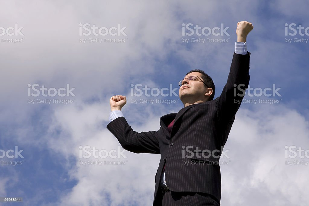 Powerful businessman royalty-free stock photo