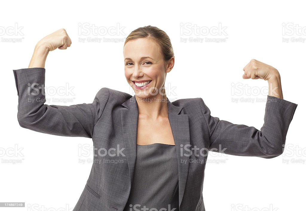 Powerful Businesswoman - Isolated royalty-free stock photo