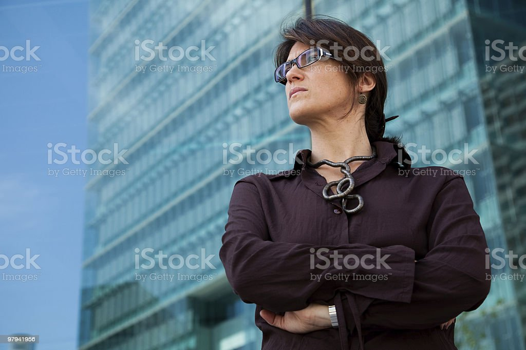 Powerful businesswoman royalty-free stock photo