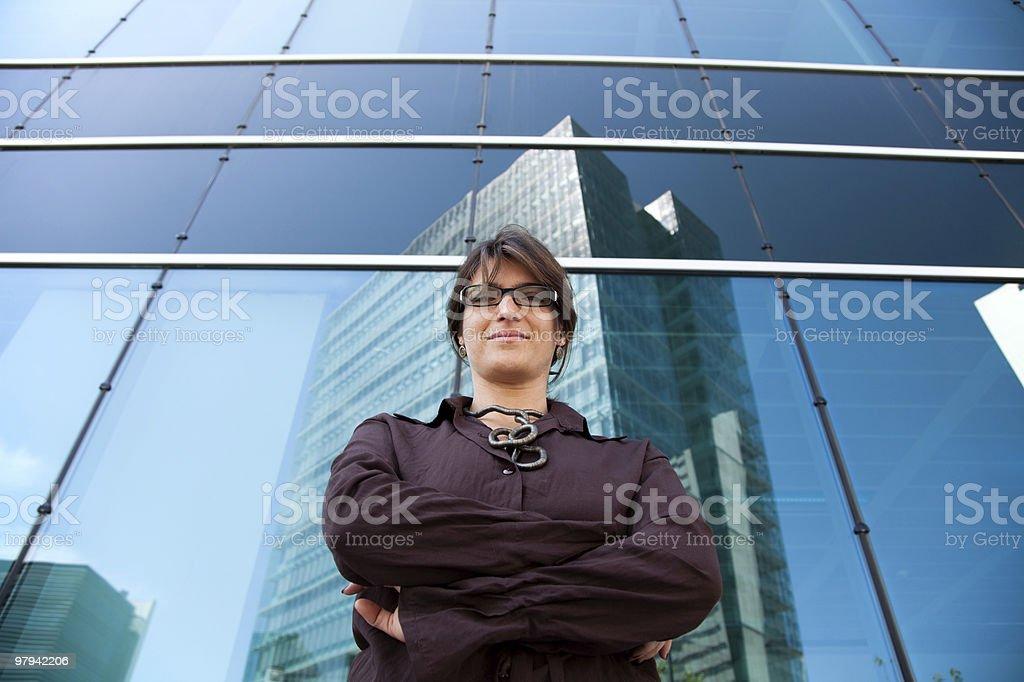 Powerful businesswoman royalty-free stock photo