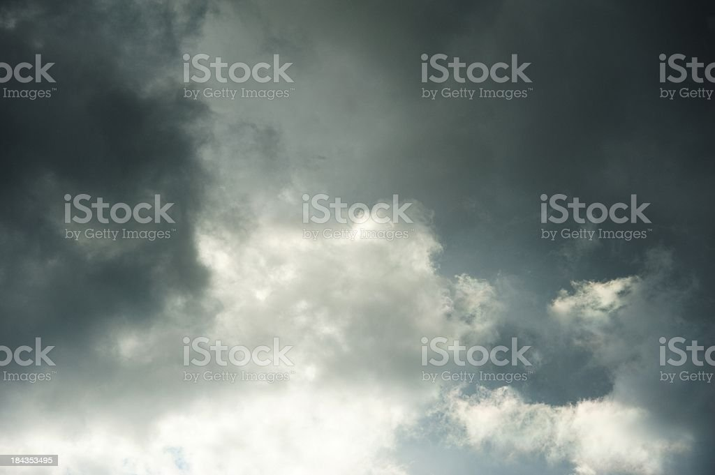 Powerful cloudy sky royalty-free stock photo
