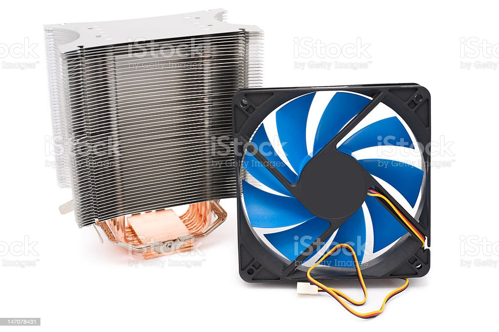powerful CPU cooler royalty-free stock photo