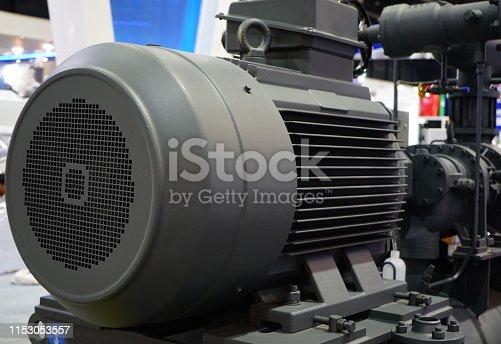Electric Motor, Large, Engine, Electrical Component, Engine