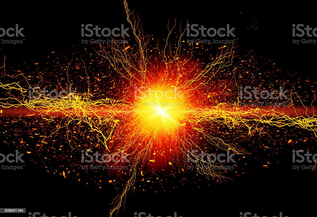 Powerful energy stock photo