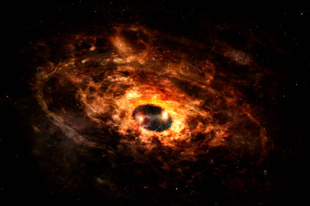 Powerful explosion of Supernova. Elements of this image furnished by NASA. stock photo