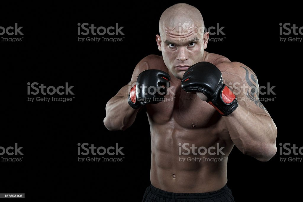 Powerful fighter portrait royalty-free stock photo