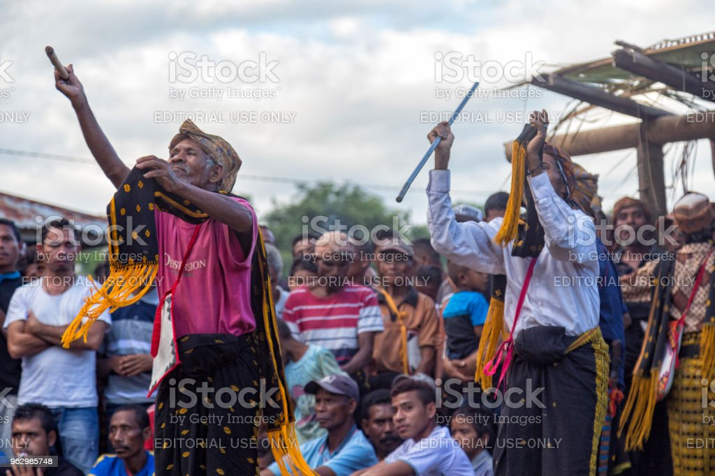 Powerful Flores Dance stock photo