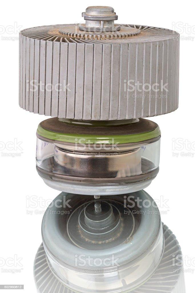 Powerful generator tetrode stock photo