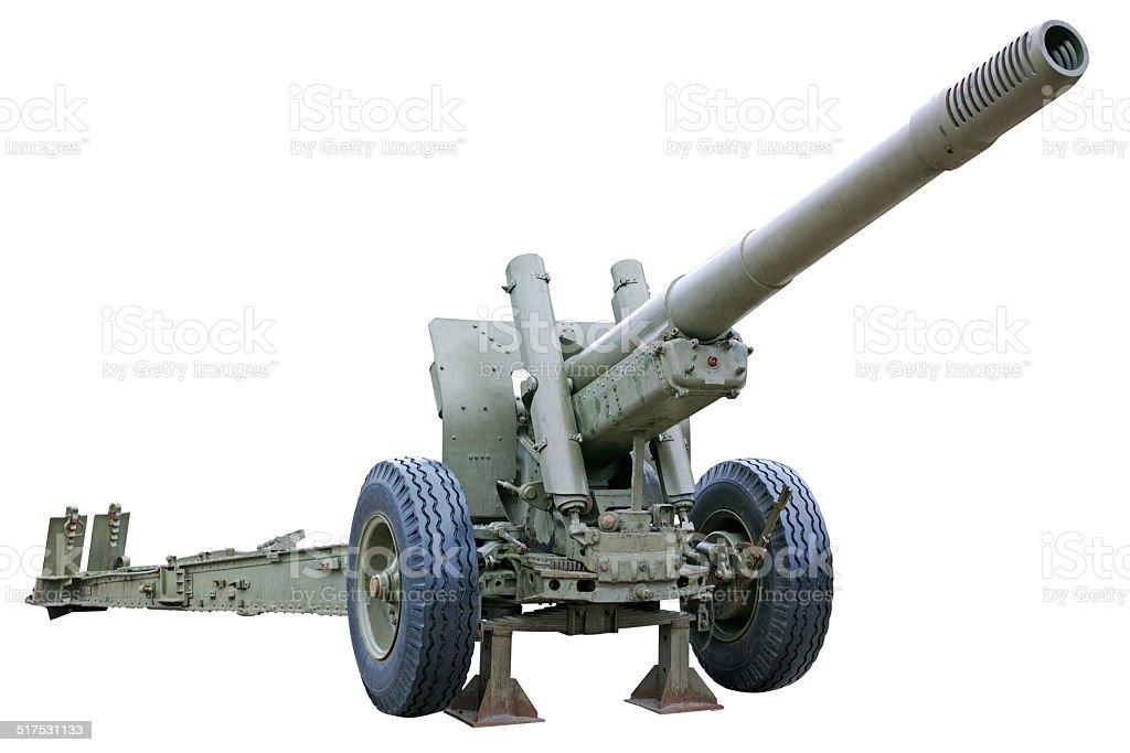 Powerful howitzer stock photo