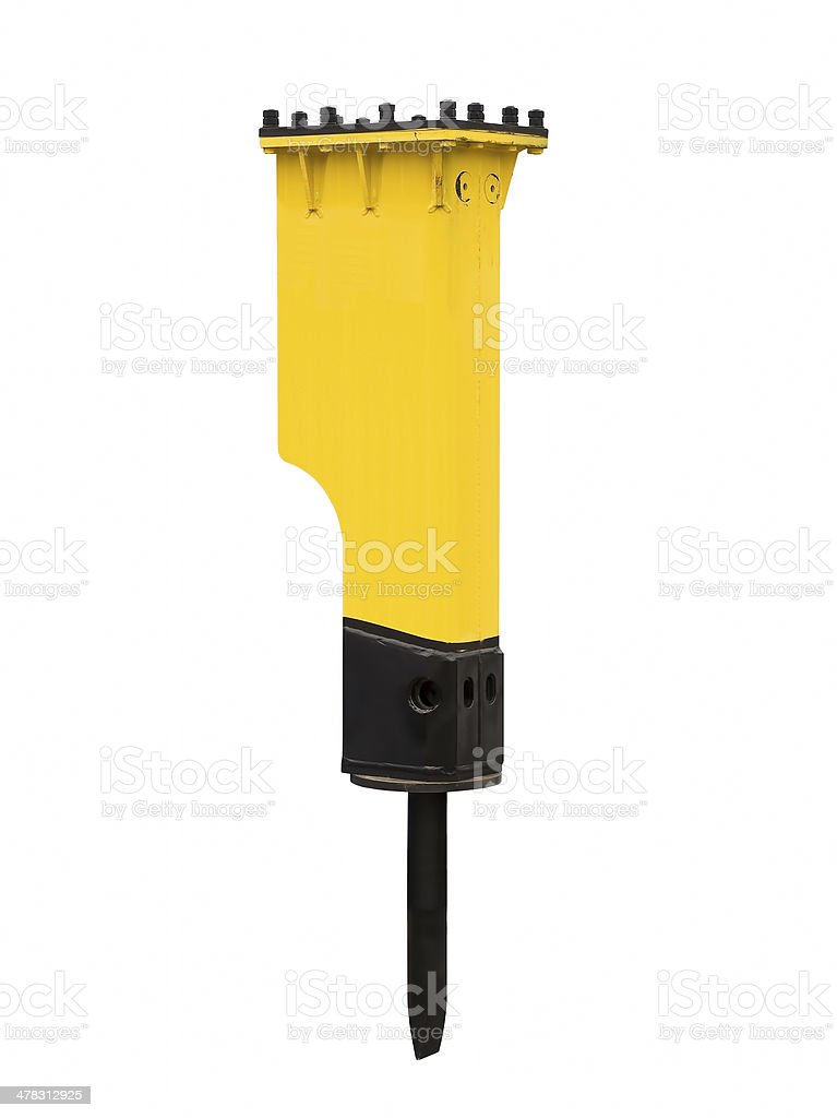 Powerful hydraulic hammer royalty-free stock photo