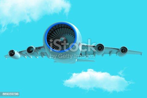 istock Powerful Jet 889059296