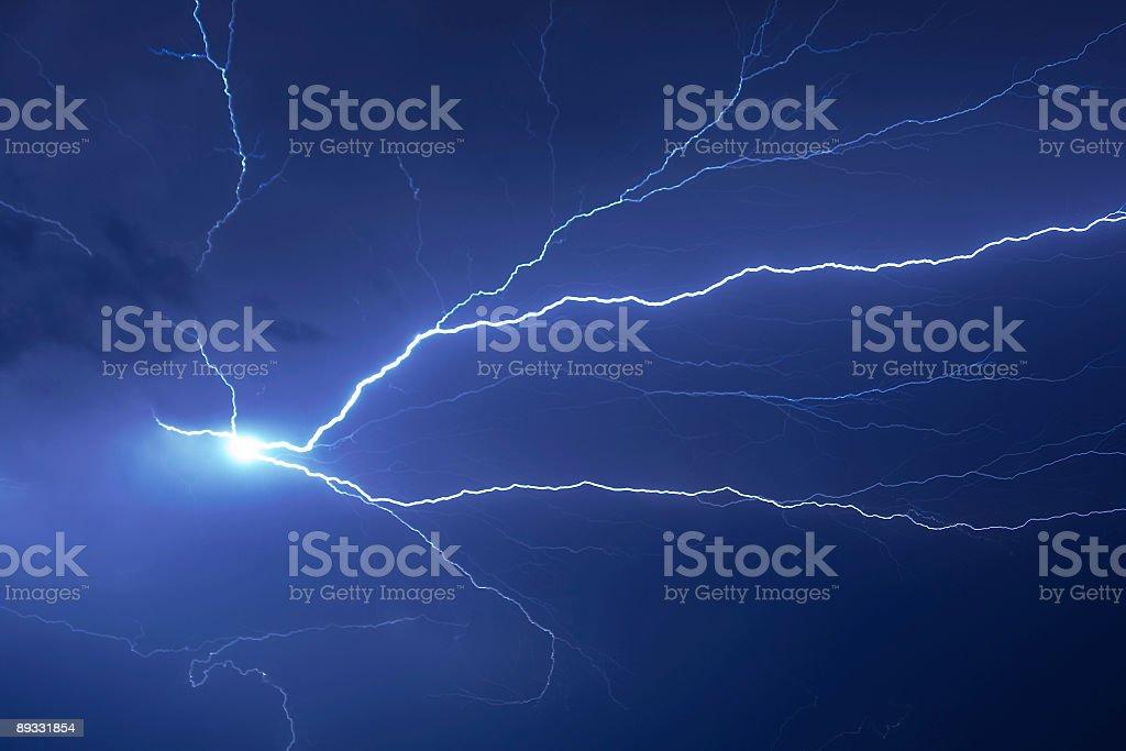 Powerful Lightning Bolt stock photo