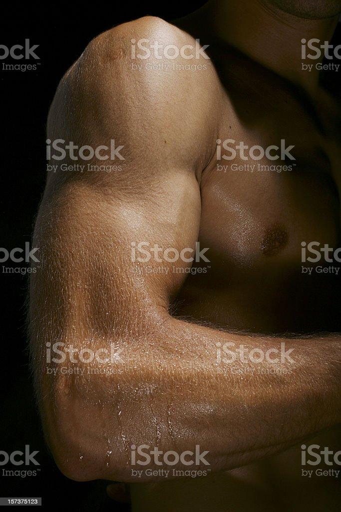 Powerful man arm royalty-free stock photo